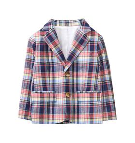 Plaid Linen Blazer