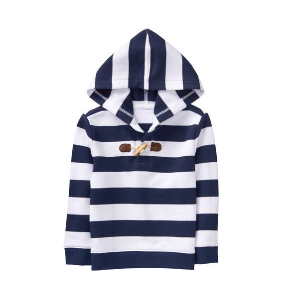 Stripe Hooded Pullover
