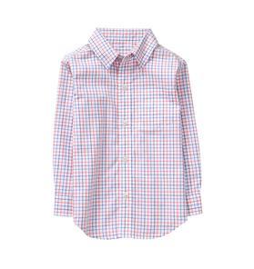 Windowpane Poplin Shirt