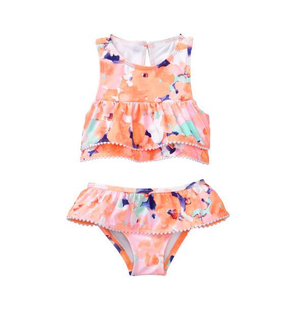Watercolor Floral 2-Piece Swimsuit
