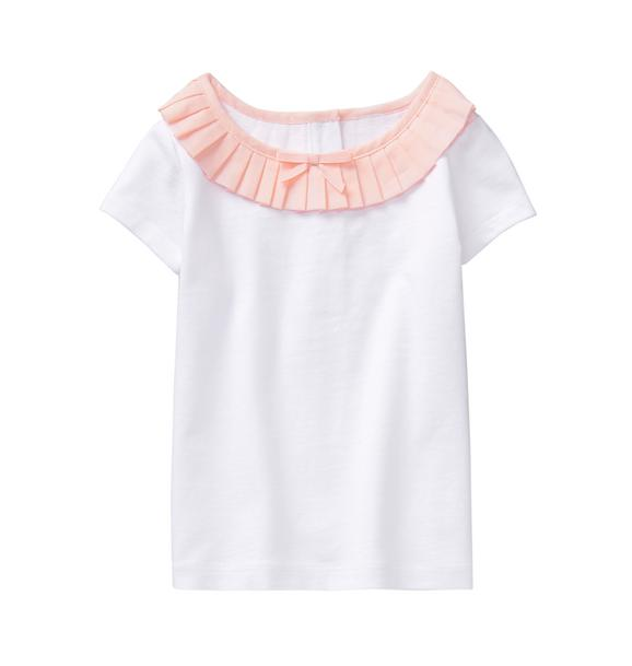 Pleated Collar Top