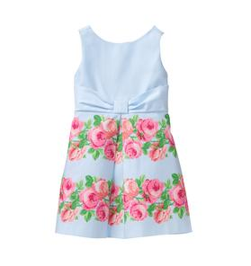 Pleated Rose Dress
