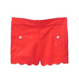 Scalloped Twill Short
