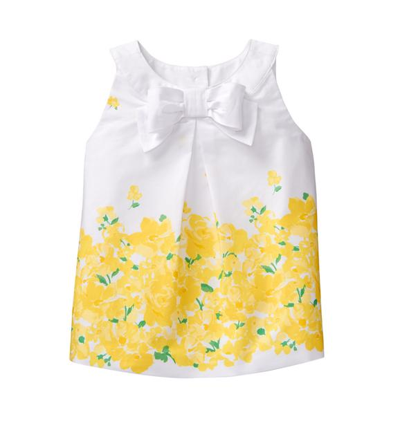 Floral Border Bow Top