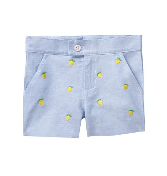 Embroidered Lemon Short