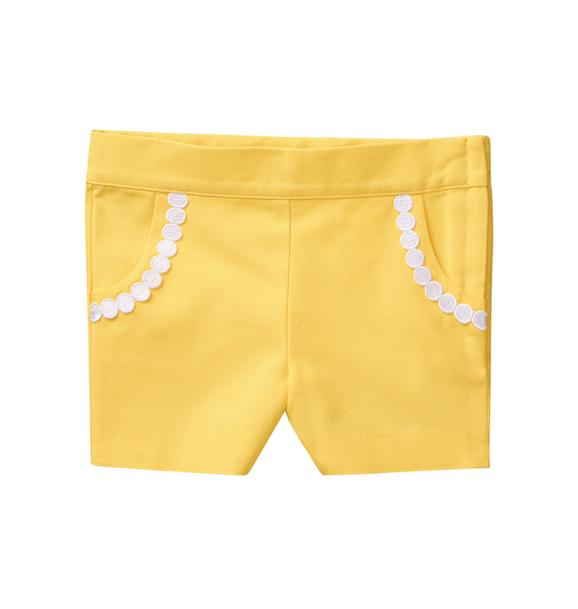 Dot Trim Canvas Short