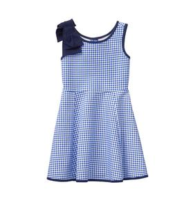 Gingham Bow Ponte Dress