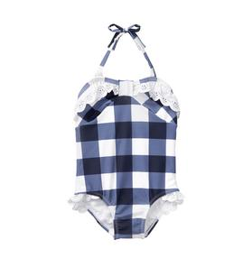 Gingham Eyelet Swimsuit