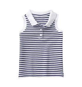 Striped Polo Top