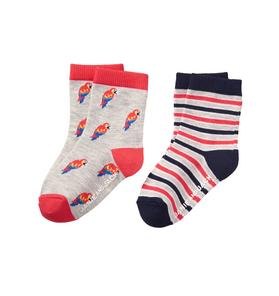 Parrot & Stripe Sock 2-Pack