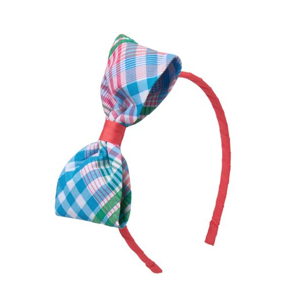 Plaid Bow Headband