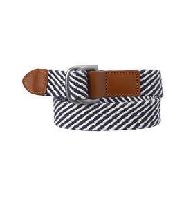 Braided Striped Belt