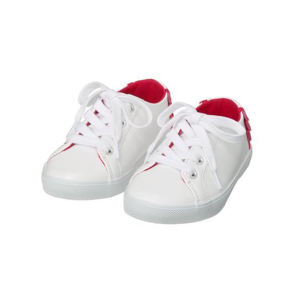 Lace-Up Ruffle Sneaker