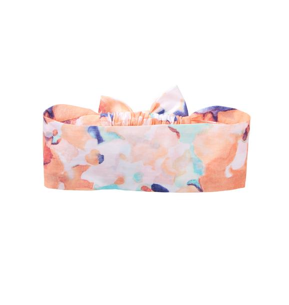 Watercolor Floral Headscarf