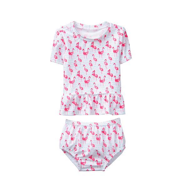 Flamingo 2-Piece Swimsuit