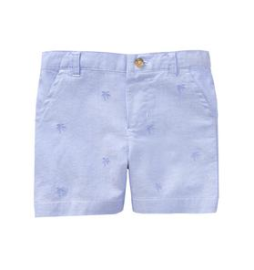 Embroidered Oxford Short