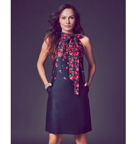 Falling Rose Tie Dress