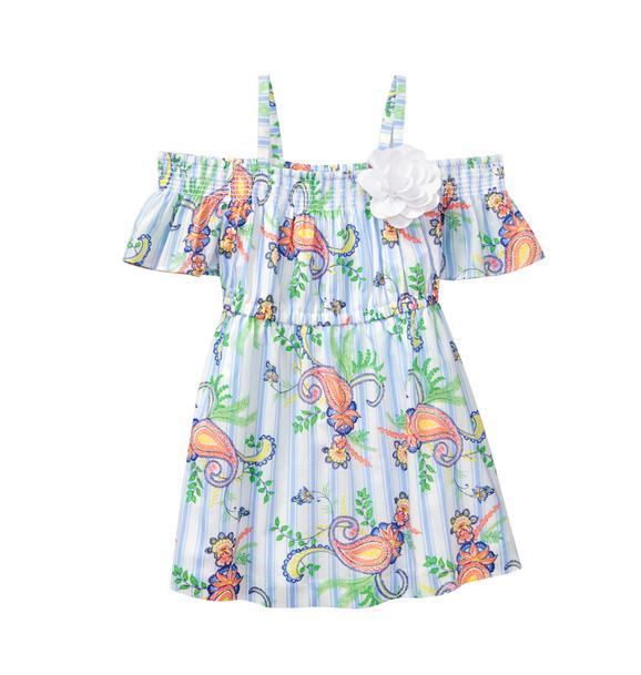 Paisley Off-The-Shoulder Dress