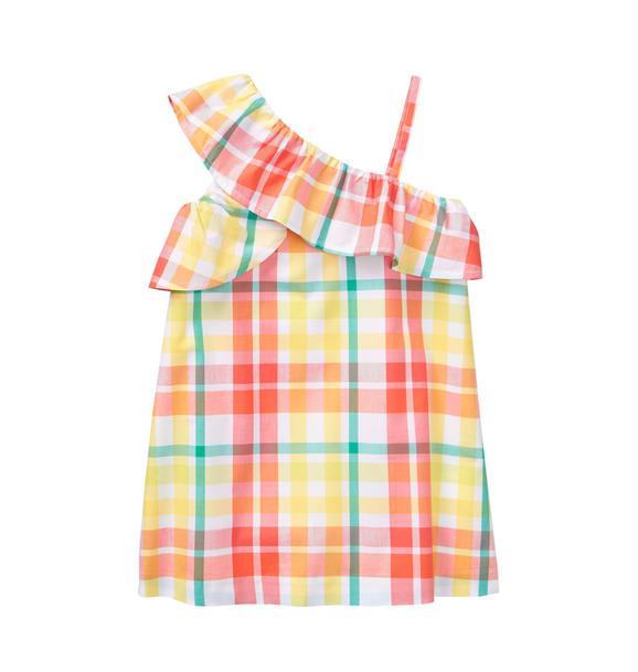 Plaid Ruffle Dress