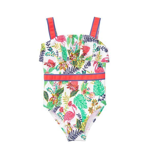Tropical Ruffle Swimsuit