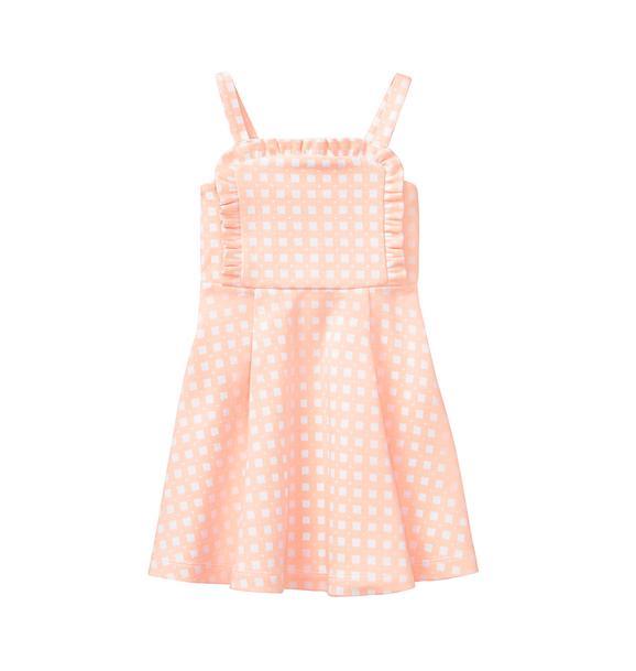Checked Ruffle Dress