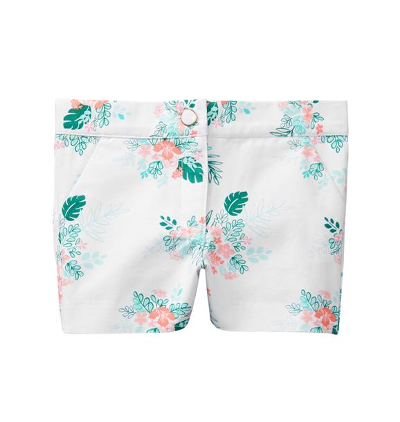 Palm Floral Canvas Short