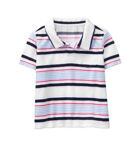 Striped Terry Polo