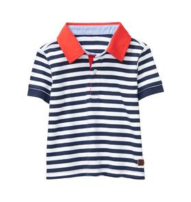 Striped Colorblock Polo