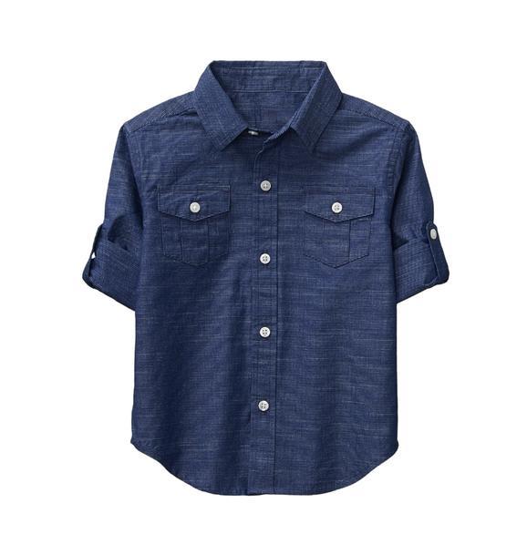 Roll-Cuff Striped Shirt   Tuggl