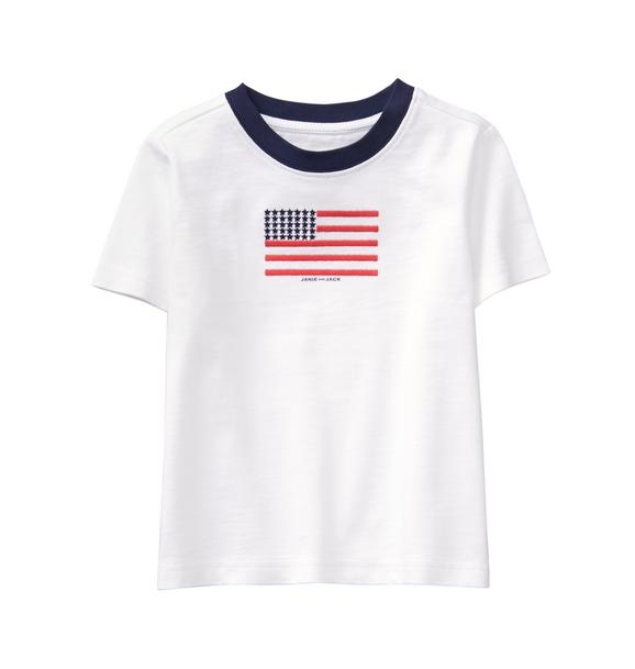 Embroidered Flag Tee