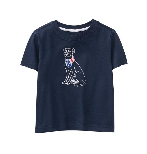 Embroidered Dog Tee