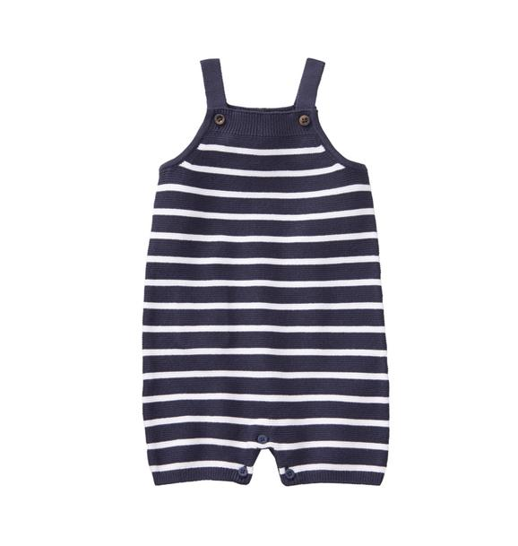 Striped Knit Overall