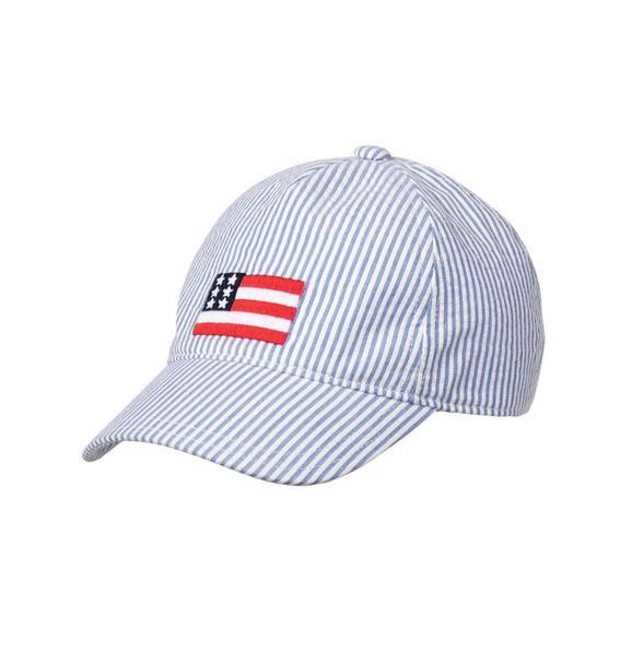 Seersucker Flag Cap   Tuggl