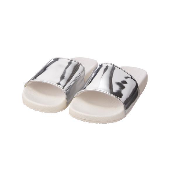 Metallic Slide Sandal   Tuggl