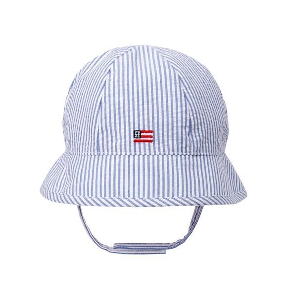 Seersucker Flag Bucket Hat