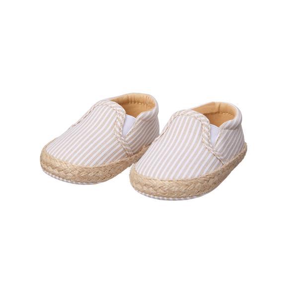 Striped Espadrille Crib Shoe