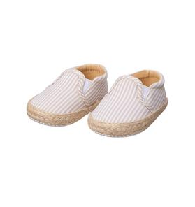 Striped Espadrille Crib Shoe