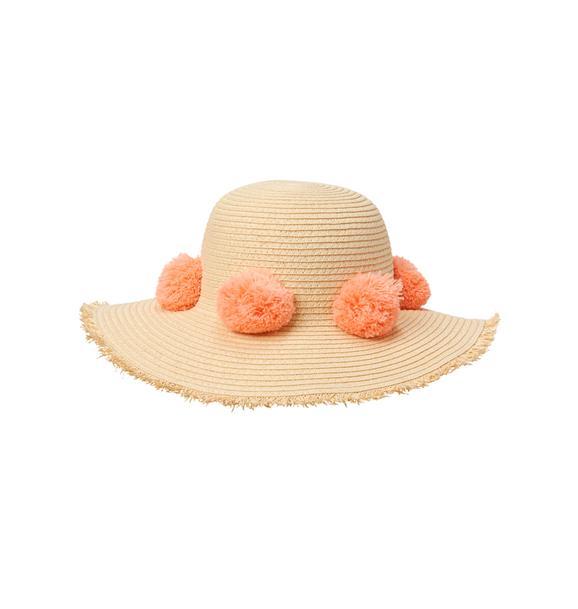 Straw Pom-Pom Hat