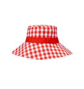 Gingham Sun Hat