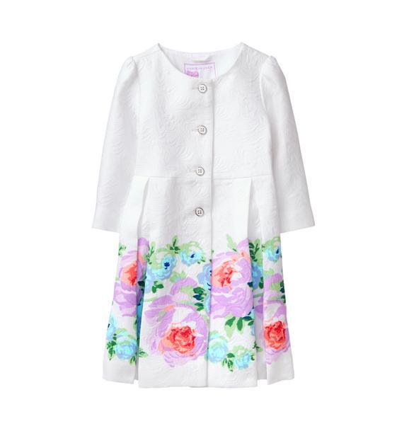 Floral Border Coat