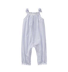 Striped Smocked Jumpsuit