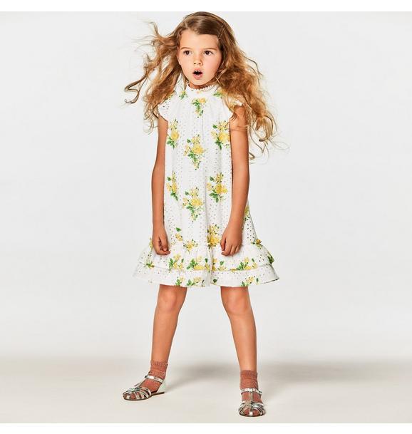 Floral Eyelet Dress