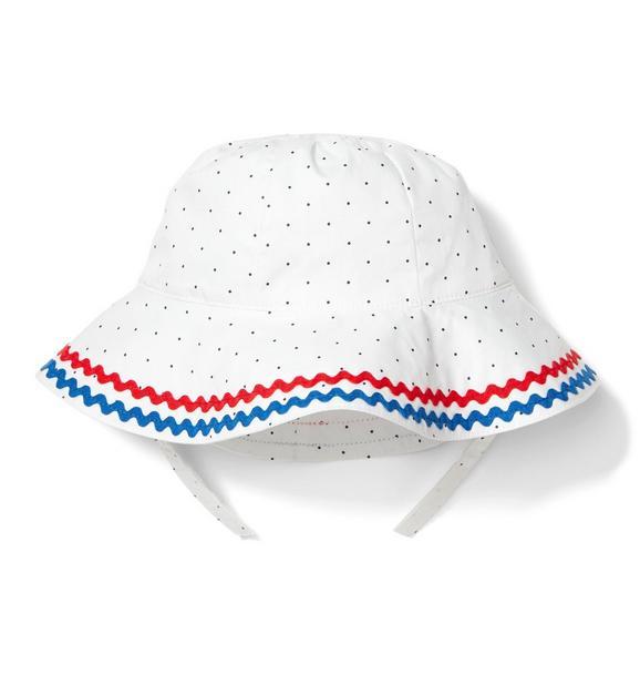 Ricrac Dot Bucket Hat