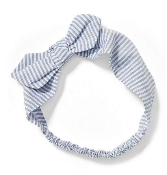 Striped Bow Headband