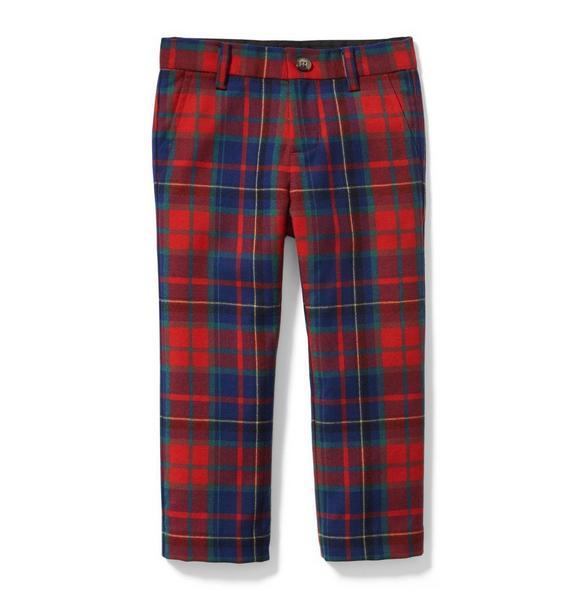 Plaid Wool Pant
