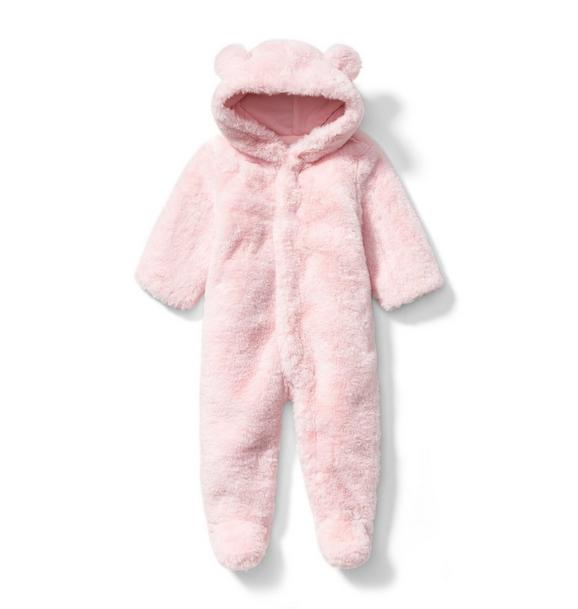 Faux Fur Bear Footed 1-Piece