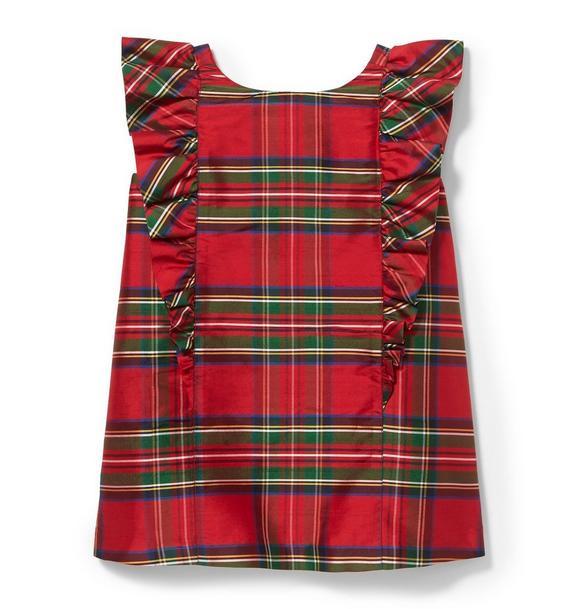 Ruffle Plaid Shift Dress