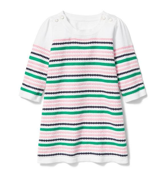 Textured Knit Stripe Sweater Dress