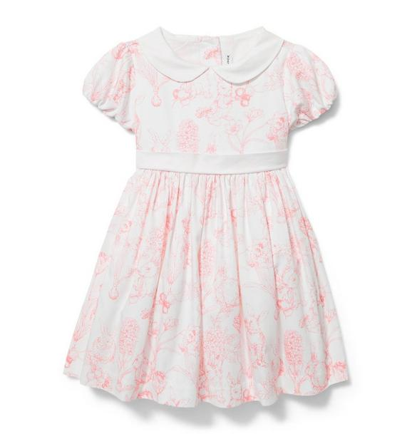 Rabbit Toile Print Dress