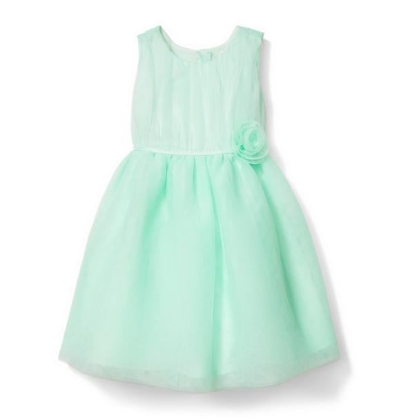 Tulle Rosette Waist Dress